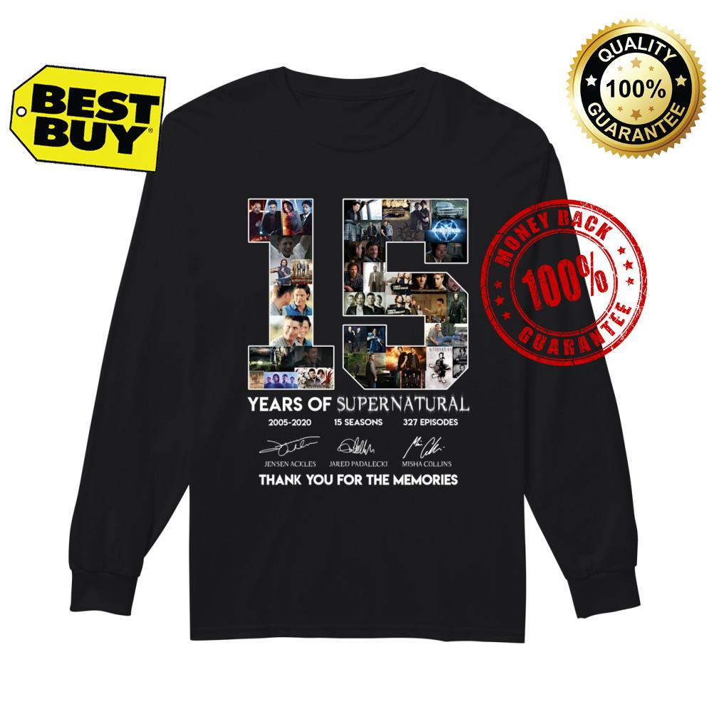 15 Years of Suppernatural shirt Long sleeved