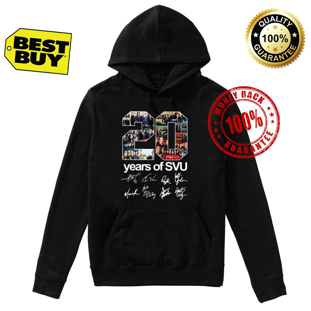 20 years of SVU Law and Order all shirt hoodie