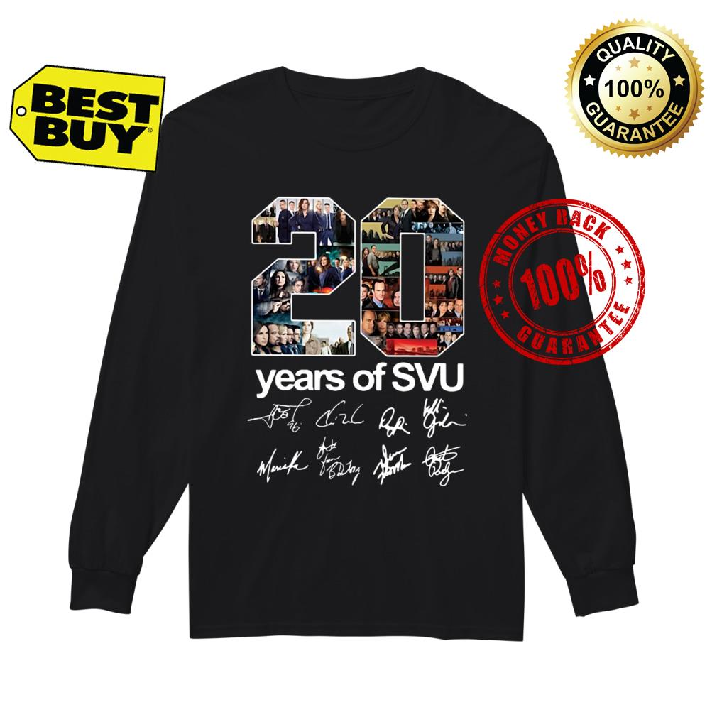20 years of SVU Law and Order all shirt Long sleeved