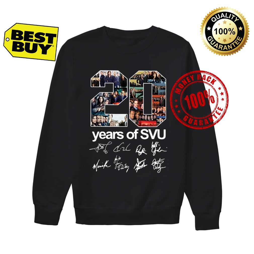 20 years of SVU Law and Order all shirt sweater