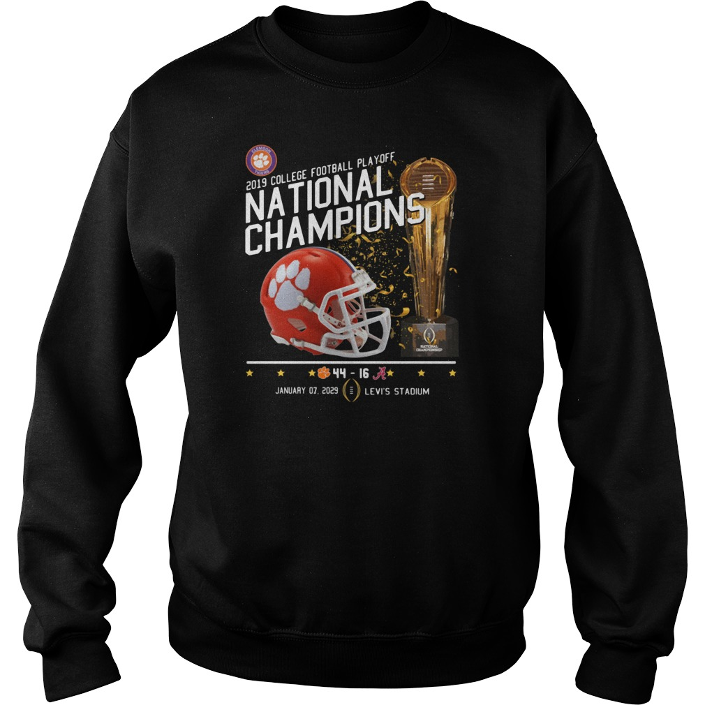 2019 College football playoff national champions 44 16 shirt sweater