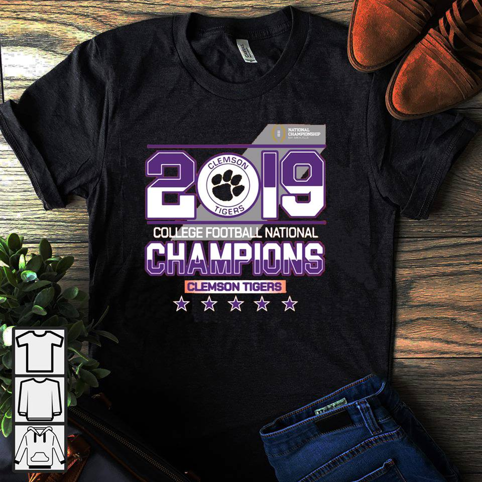 2019 college football National champions Clemson Tigers shirt