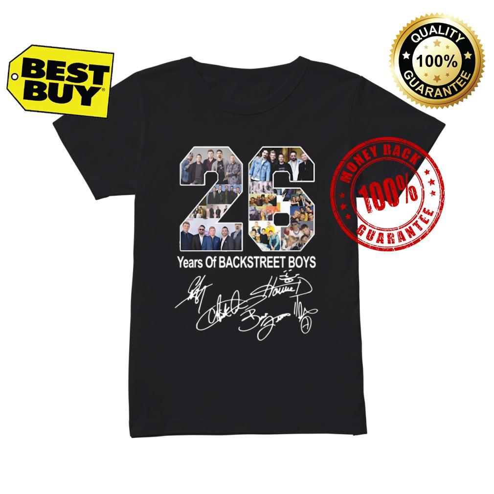 26 Years of Backstreet Boys signature shirt ladies tee