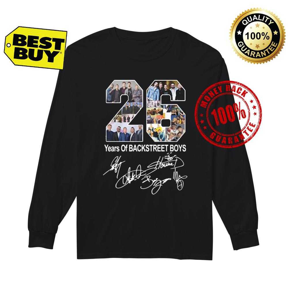 26 Years of Backstreet Boys signature shirt Long sleeved