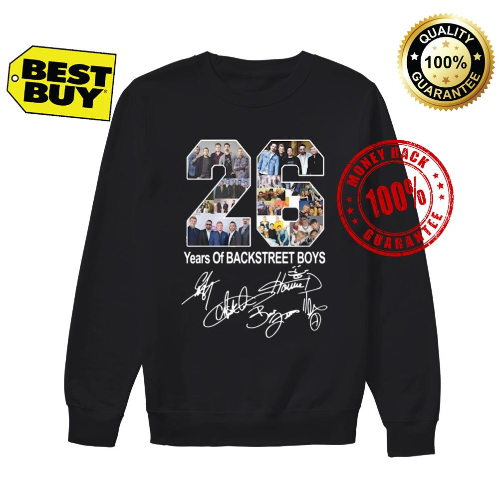 26 Years of Backstreet Boys signature shirt sweater