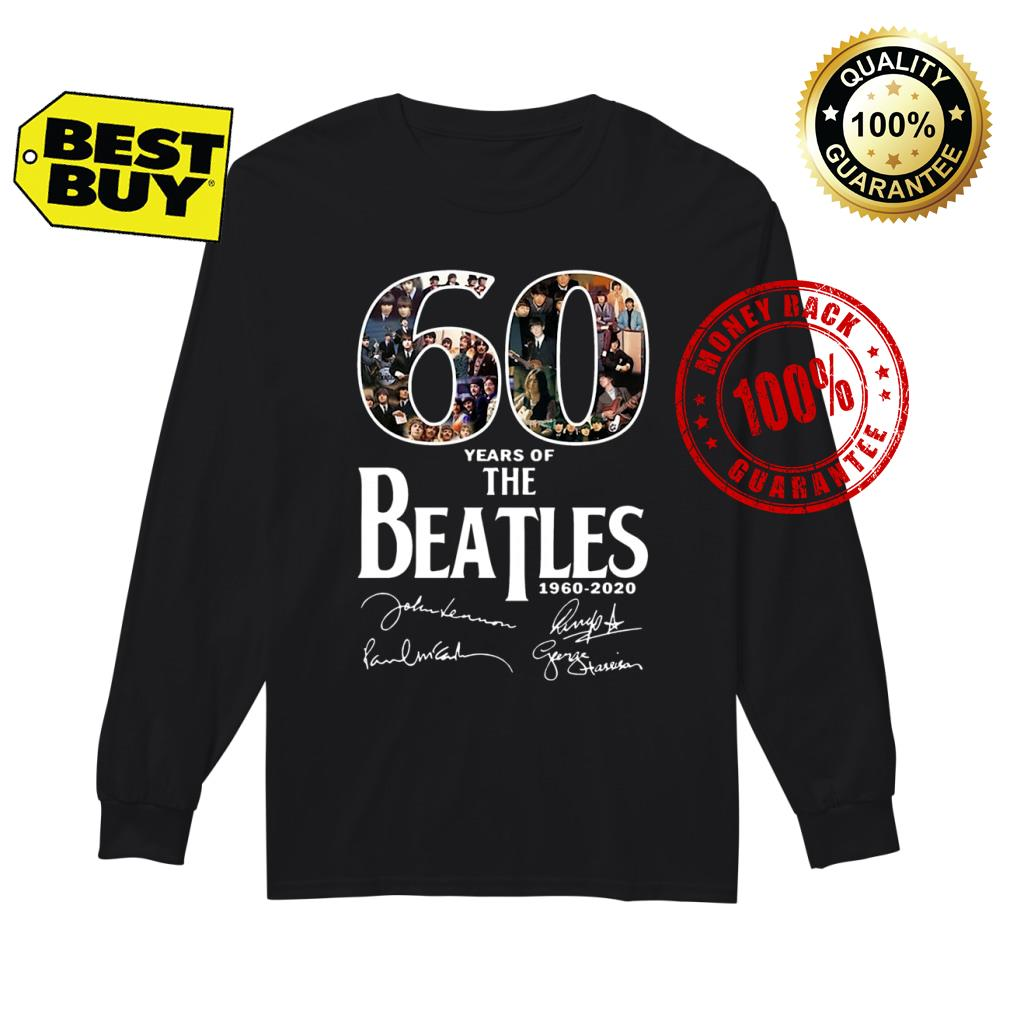 60 Years Of The Beatles shirt Long sleeved