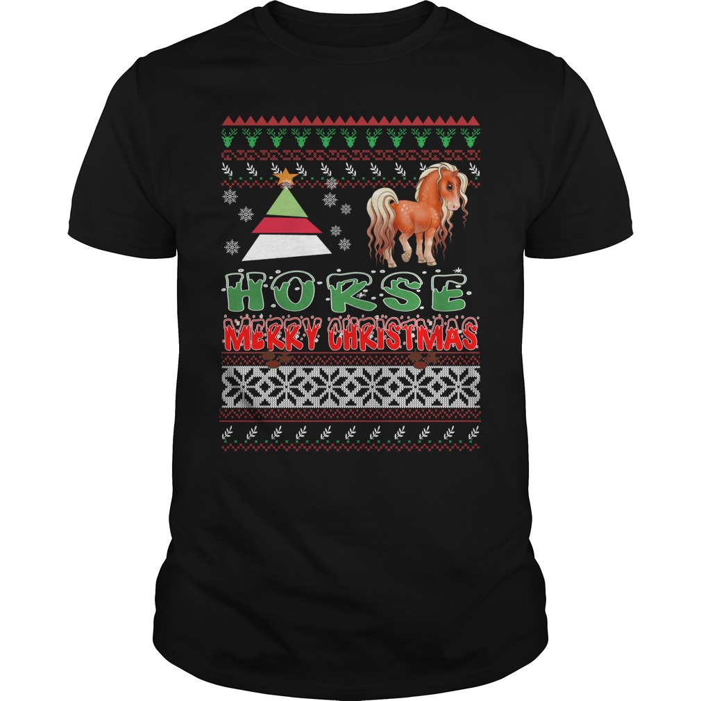 Horse ugly christmas T-shirt