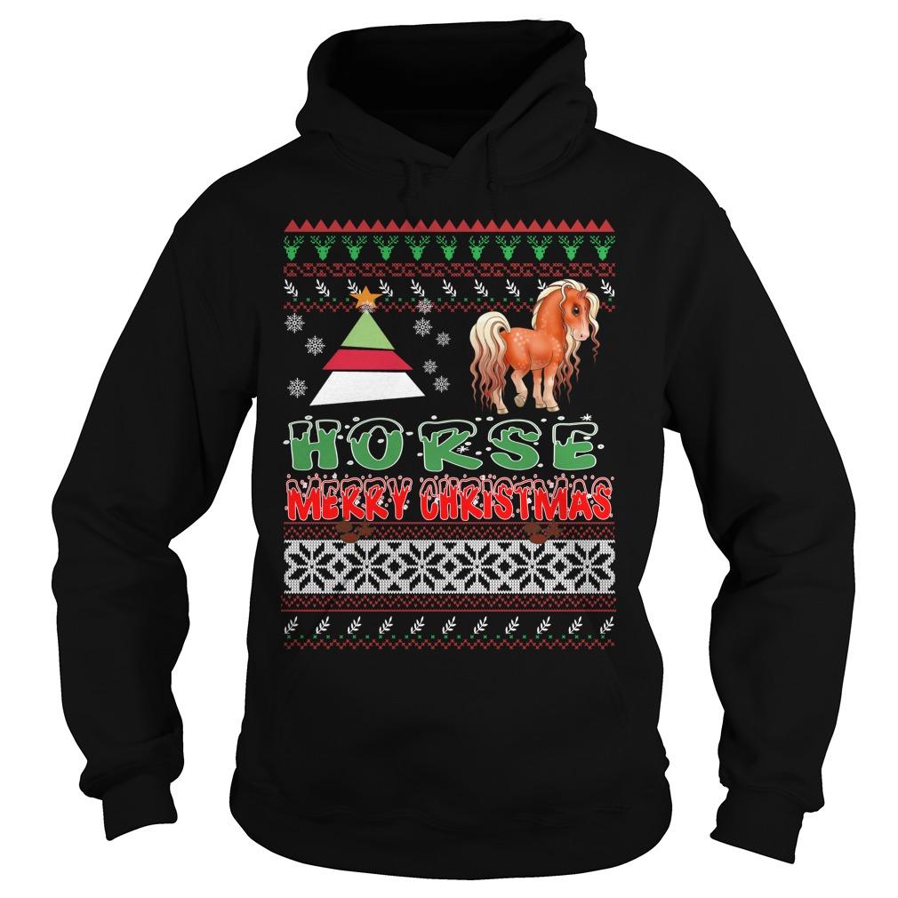 Horse ugly christmas hoodie