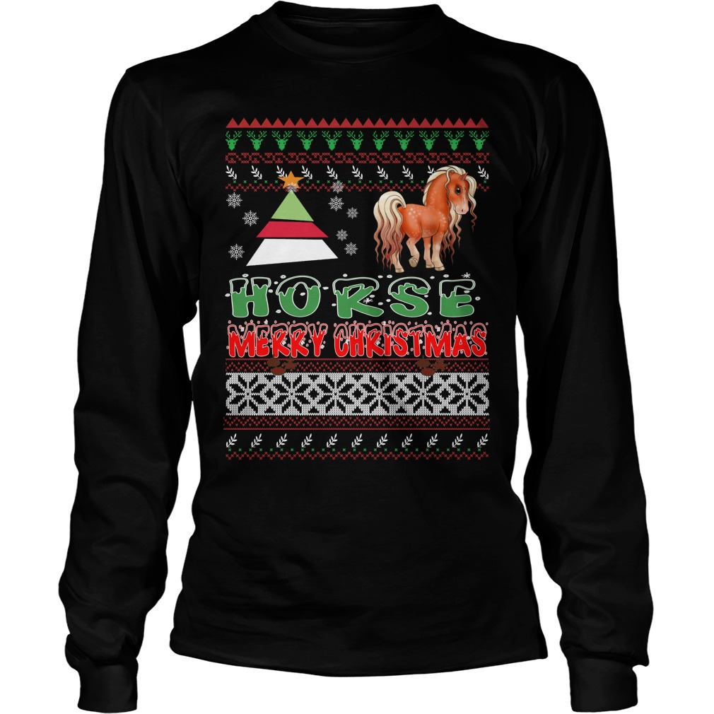 Horse ugly christmas long sleeve