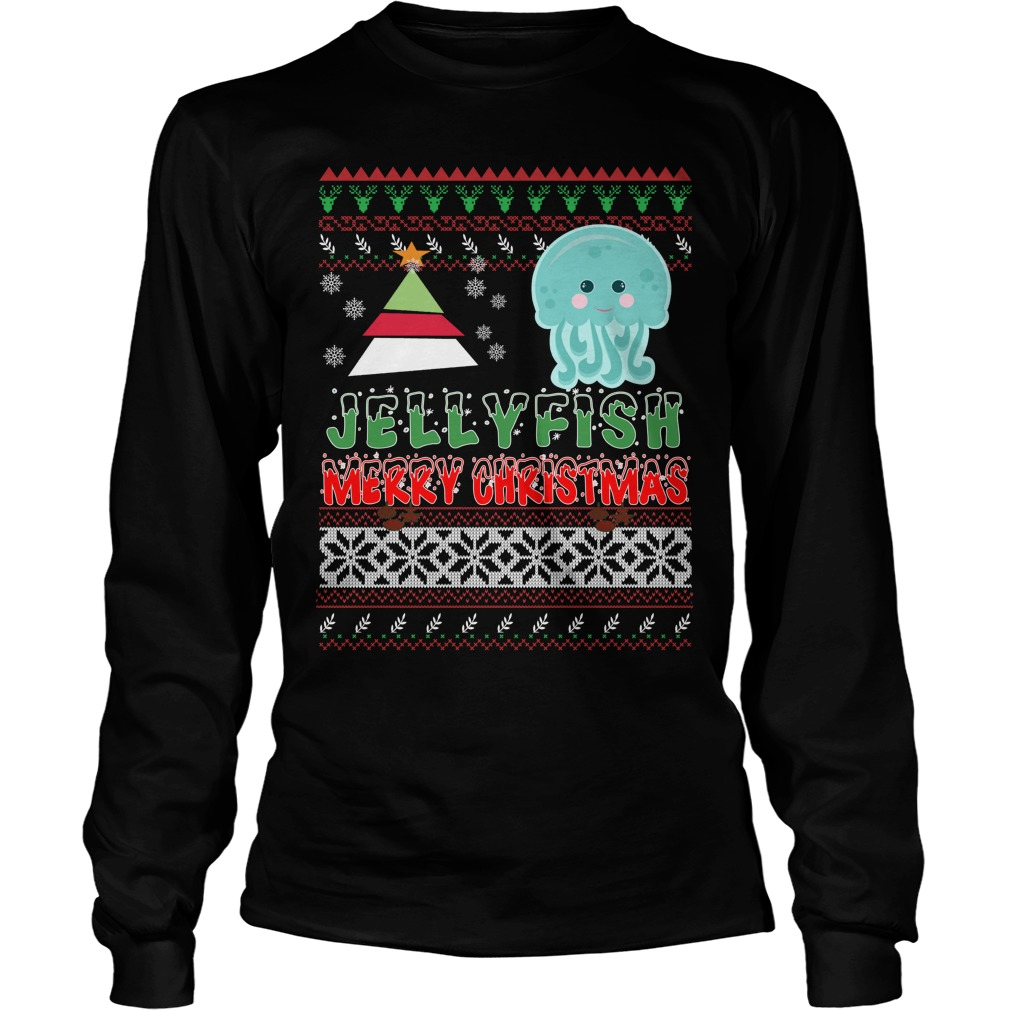 Jellyfish ugly christmas long sleeve