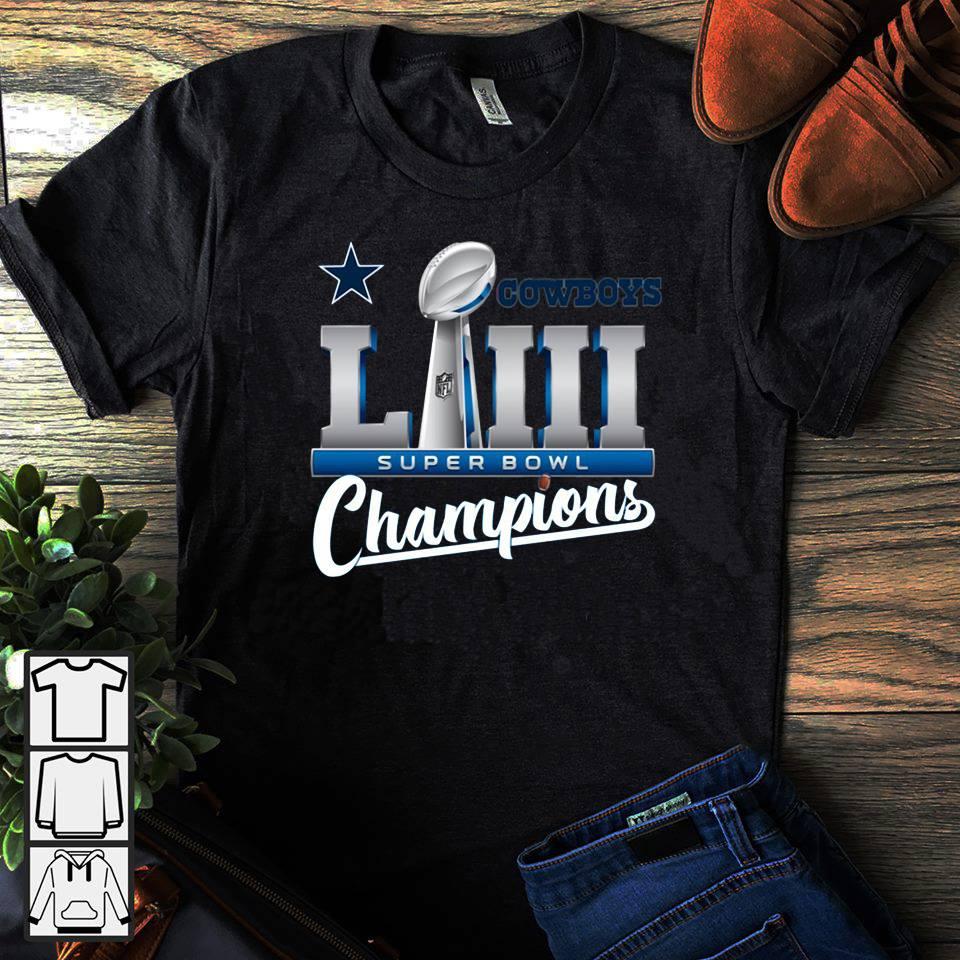 Cowboys LII super bowl champions shirt
