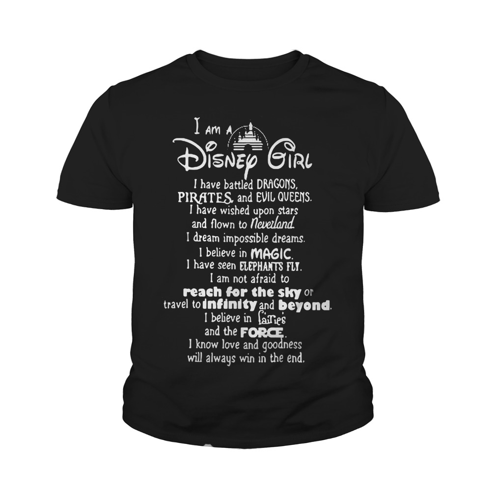 I am a disney girl i have battled dragons youth tee