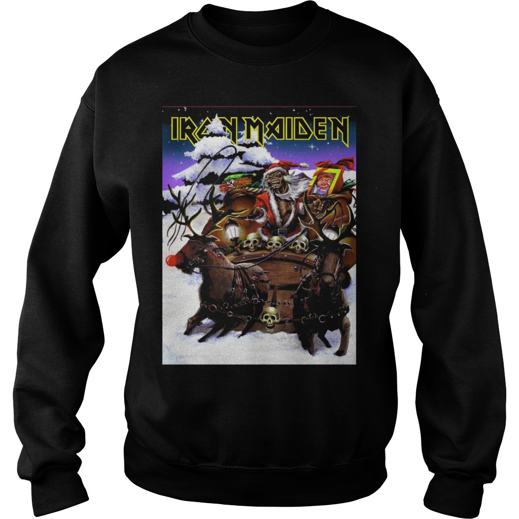 iron maiden santa clause ugly christmas sweater