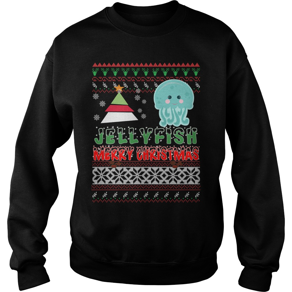 Jellyfish ugly christmas sweater