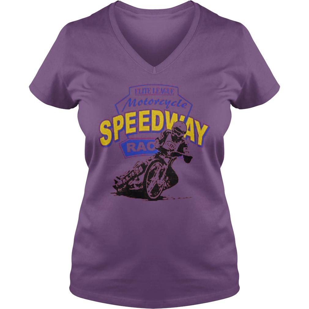 Motorcycle speedway racing Ladies V-Neck