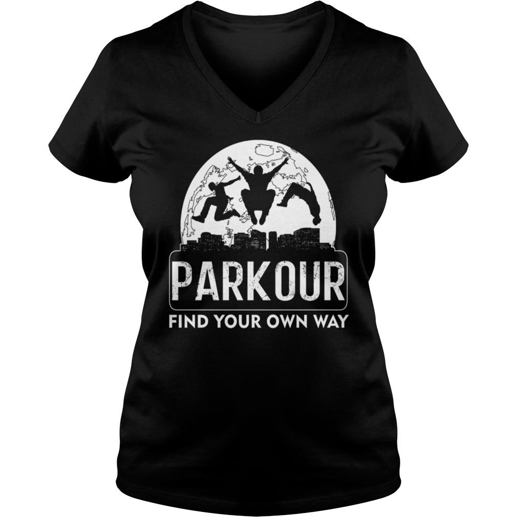 Parkour find your own way Ladies V-Neck