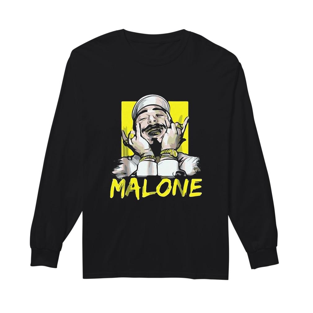 Rapper Post Malone shirt Long sleeved