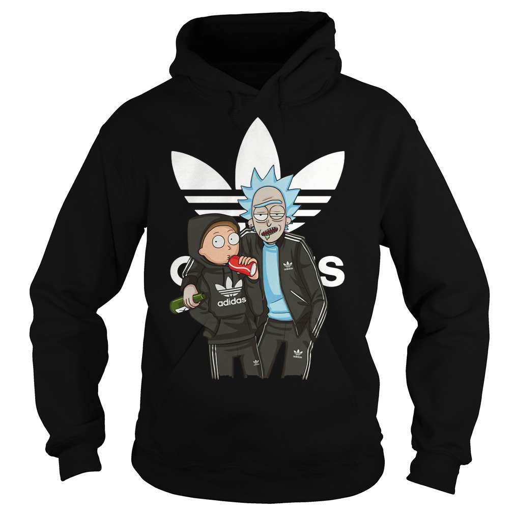 Rick and Morty stranger adidad hoodie