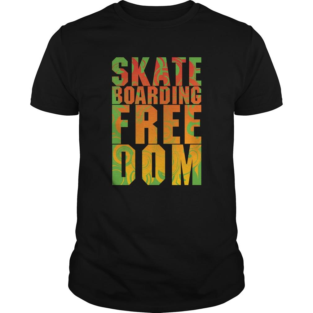 Skate boarding freedom shirt