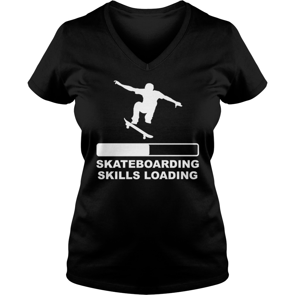 Skateboarding skills loading Ladies V-neck