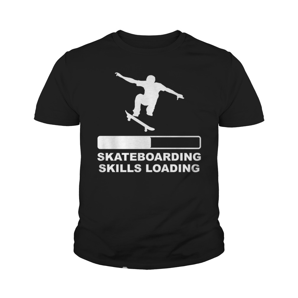 Skateboarding skills loading youth tee