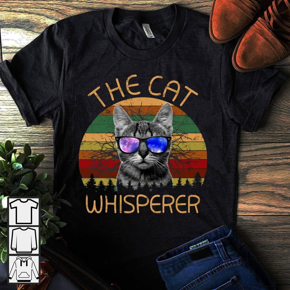 Vintage the cat whisperer shirt