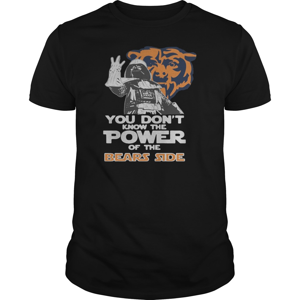 You don't know the power of the bears side shirt tank top