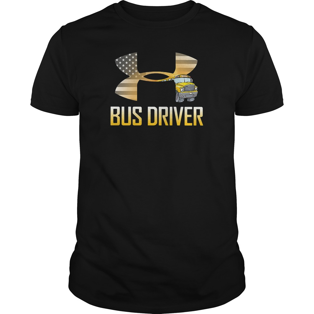 American flag under armour bus driver guys tee