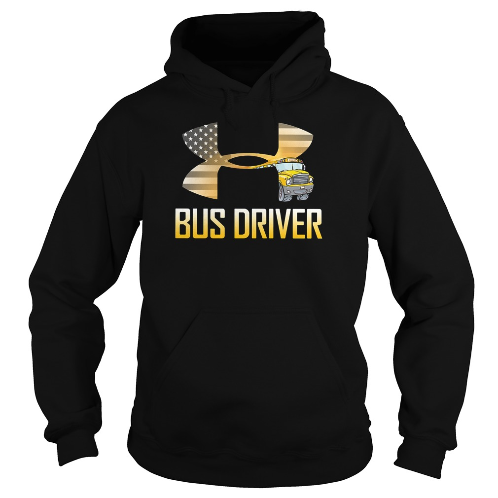 American flag under armour bus driver hoodie