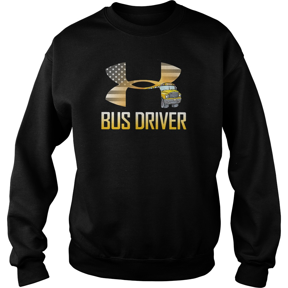 American flag under armour bus driver sweater