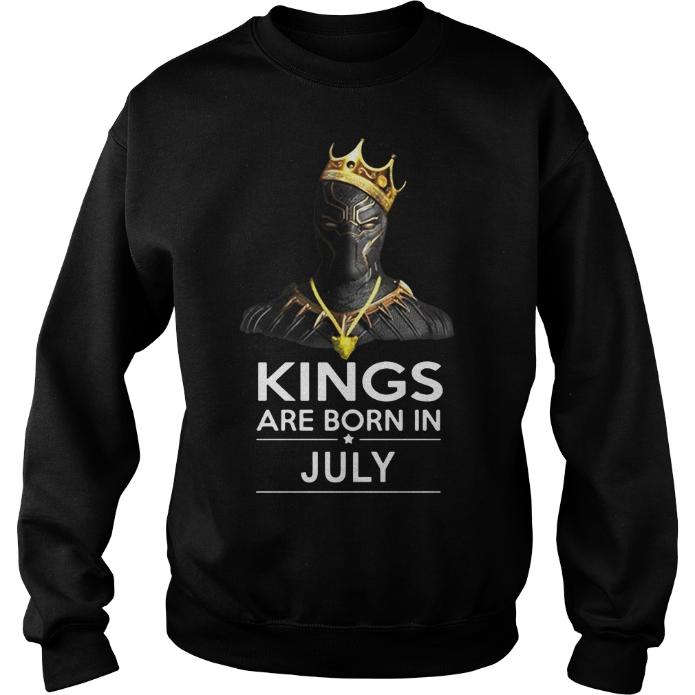 Black Panther kings are born in july sweater