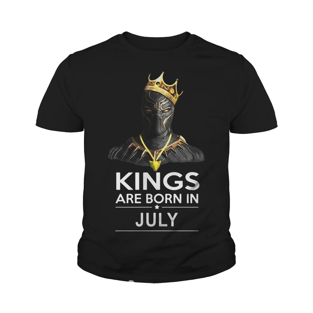 Black Panther kings are born in july youth tee