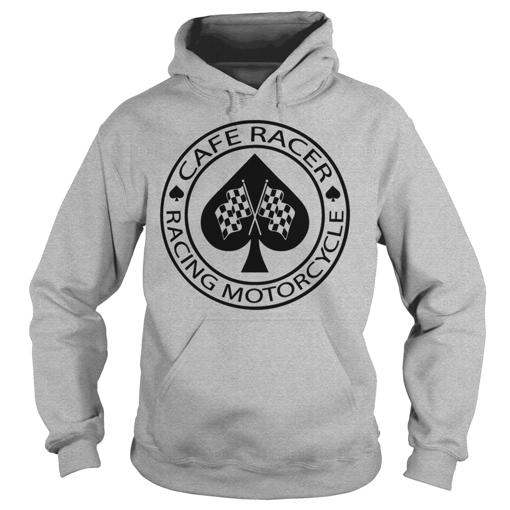 Cafe racer racing motorcycle ace of Spades Motorcycling Hoodie