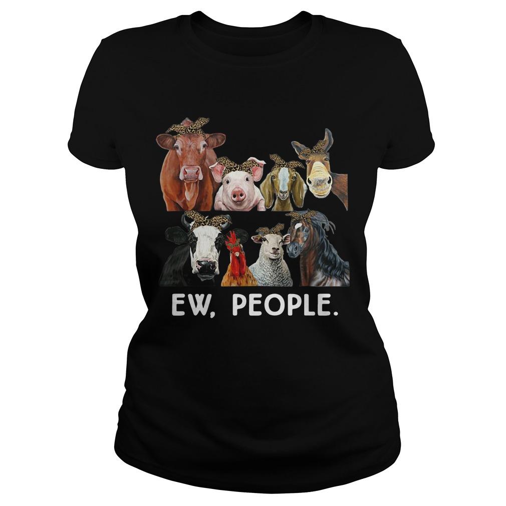 Farmers cattle ew people animal ladies tee
