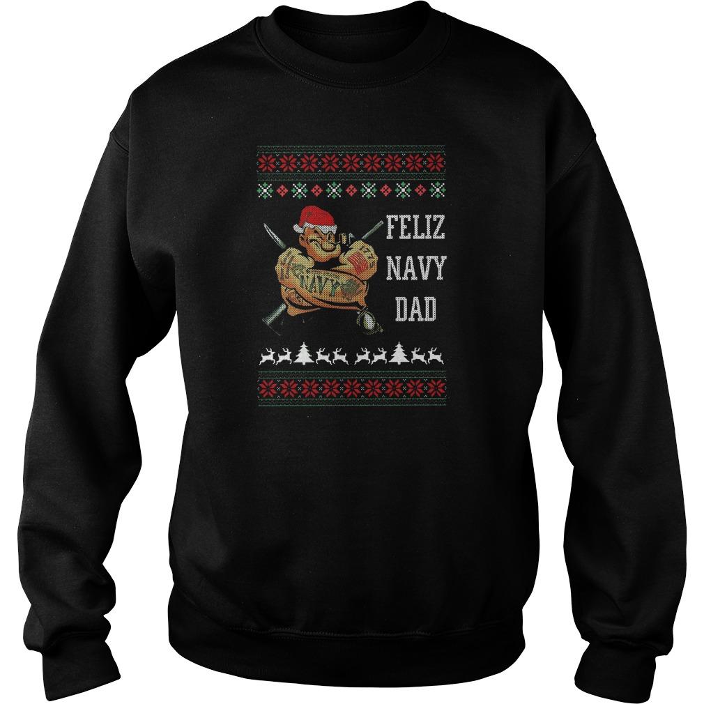 Feliz navidad christmas santa hat sweater