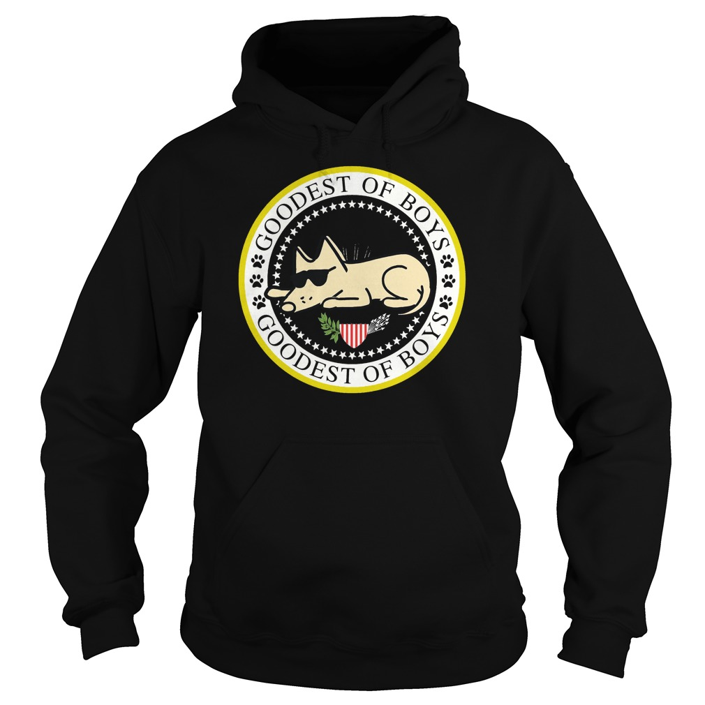Goodest of boys dog hoodie