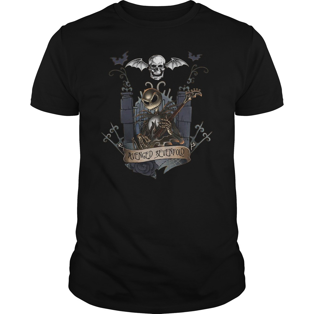 Jack skellington castle avenged sevenfold guys tee