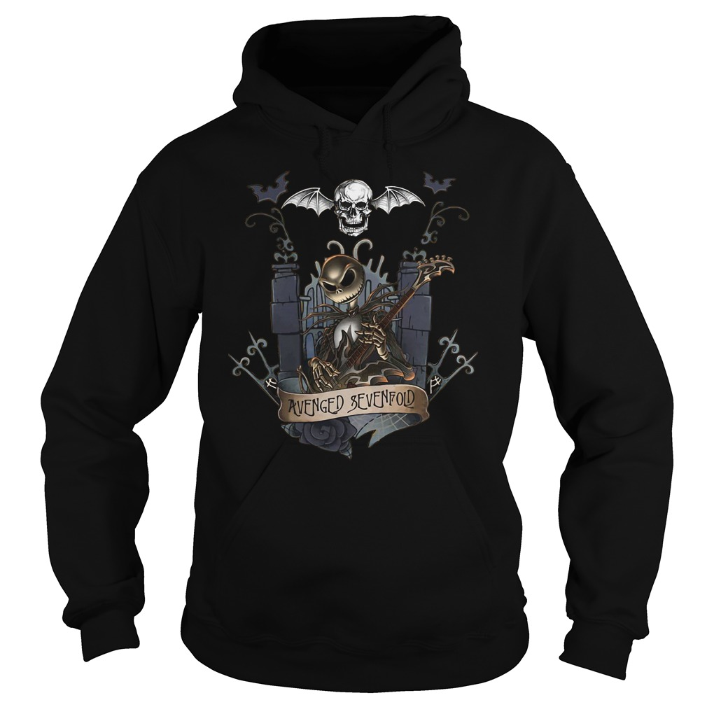 Jack skellington castle avenged sevenfold hoodie