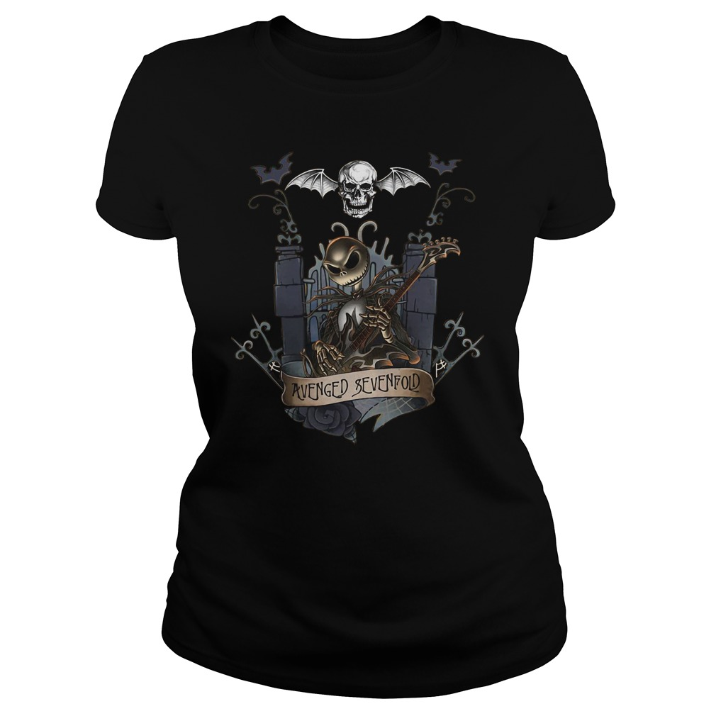 Jack skellington castle avenged sevenfold ladies tee