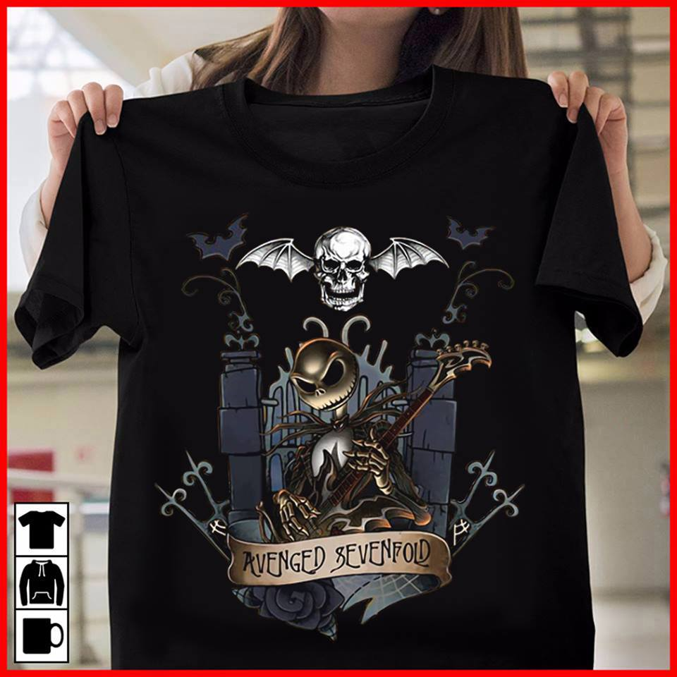 Jack skellington castle avenged sevenfold shirt