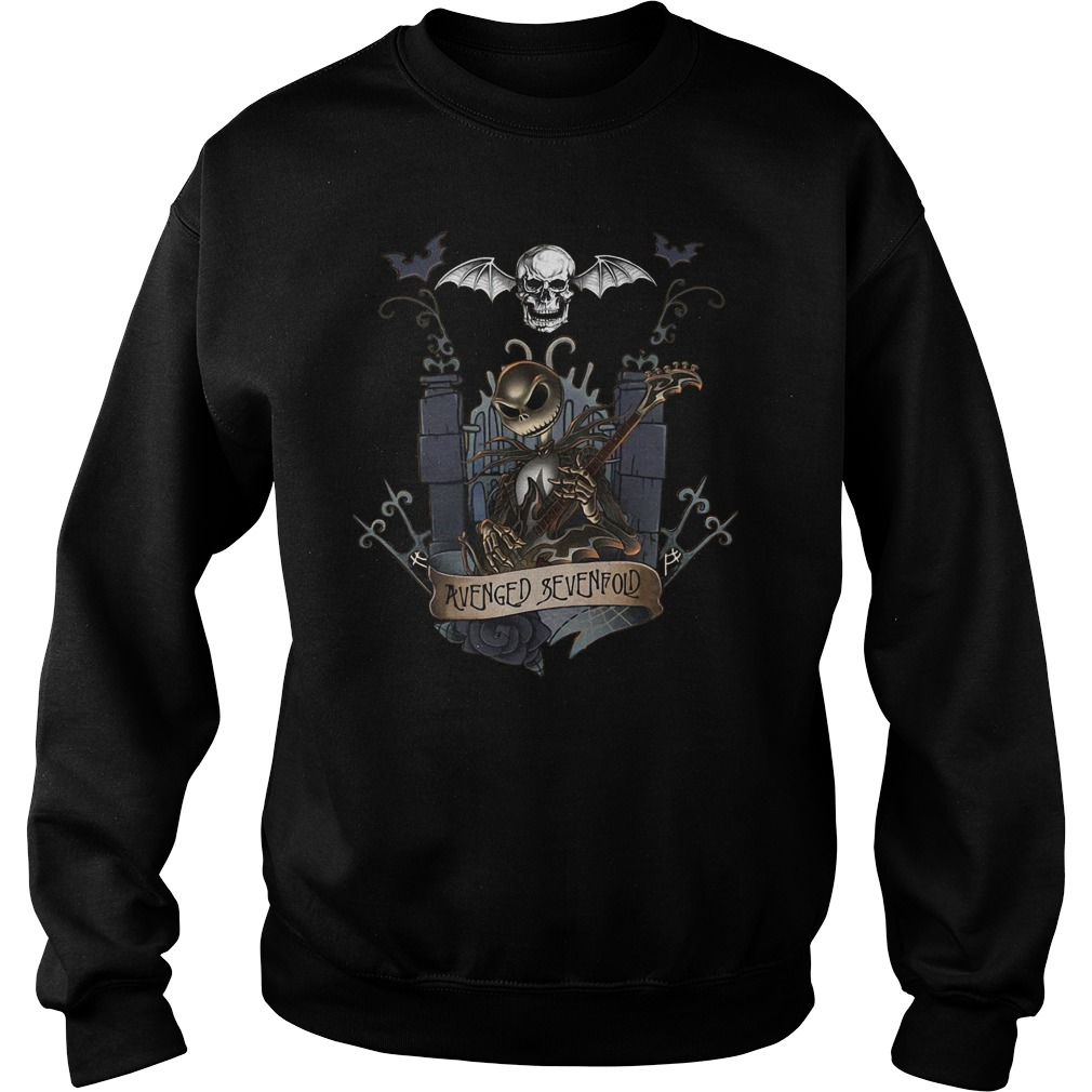 Jack skellington castle avenged sevenfold sweater