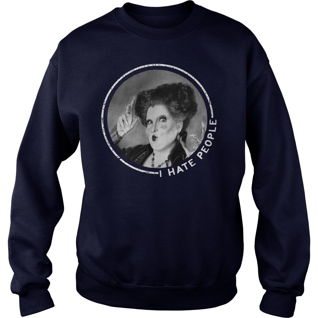 I love Hocus Pocus I hate people sweater
