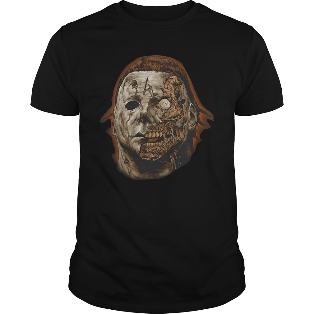 Michael Myers head zombie halloween shirt