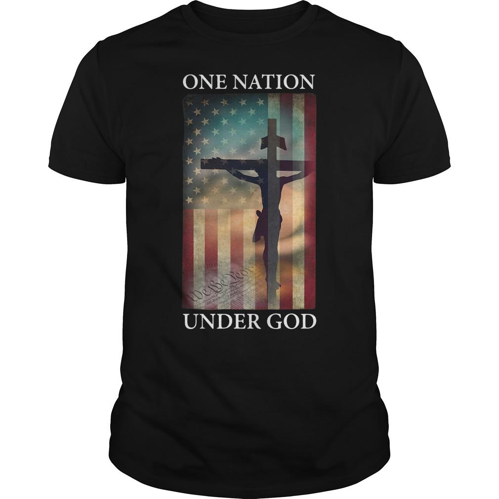 One nation under God American flag shirt