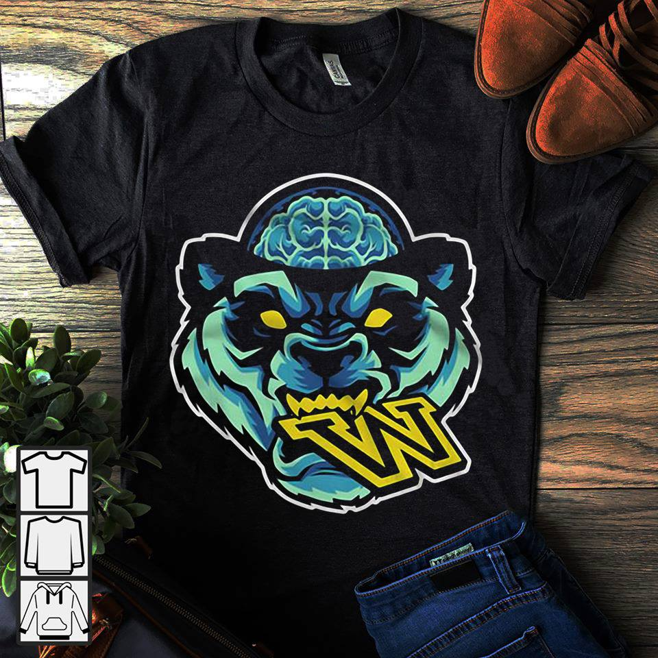 Panda head eat W shirt