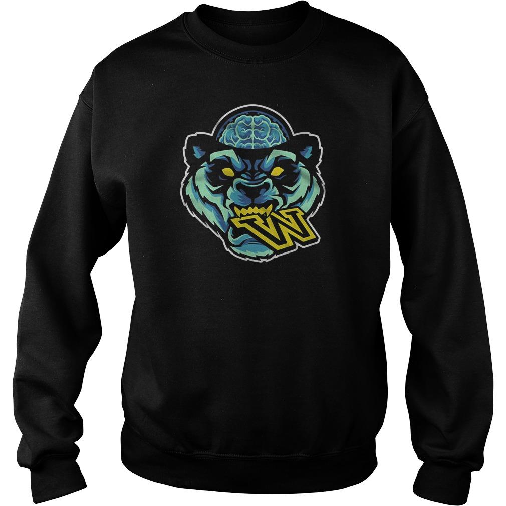 Panda head eat W sweater