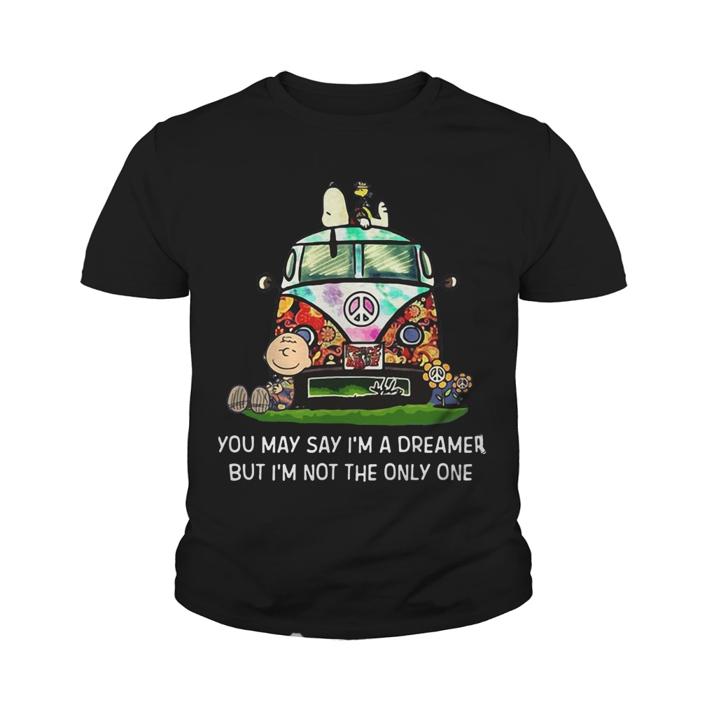 Snoopy You may say I'm a dreamer but I'm not the only one youth tee